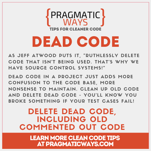 dead code is a code smell