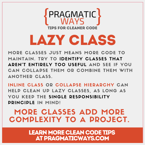lazy class is a common code smell