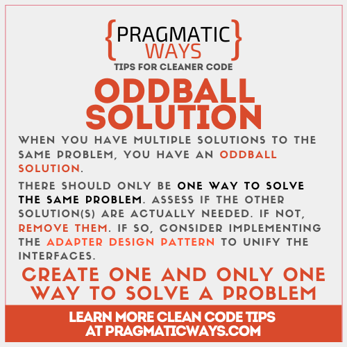 Oddball Solution Code Smell
